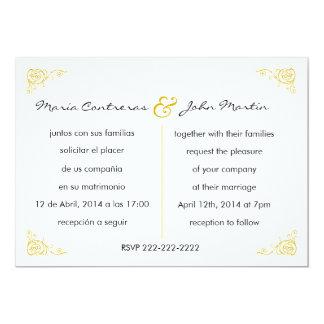 Invitación inglesa- bilingüe del boda