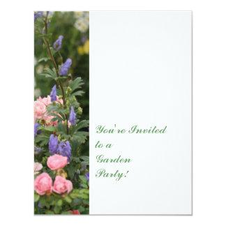 Invitación inglesa del jardín de la cabaña
