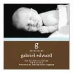 Invitación inicial dulce del nacimiento del bebé invitación 13,3 cm x 13,3cm