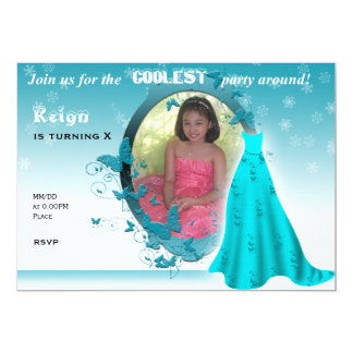 Invitación inspirada congelada