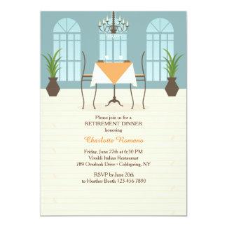 Invitación interior del retiro del restaurante