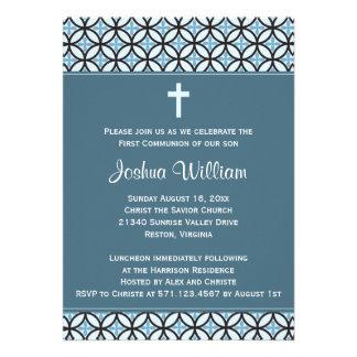 Invitación invitación azules de la comunión