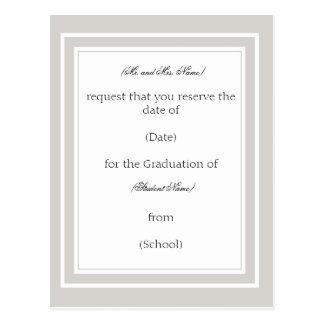 Invitación/invitación de encargo de la graduación postales