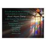 Invitación/invitación del bautismo del vitral