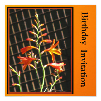 Invitación - invitación del cumpleaños - flores an
