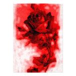 Invitación/invitación del rosa rojo