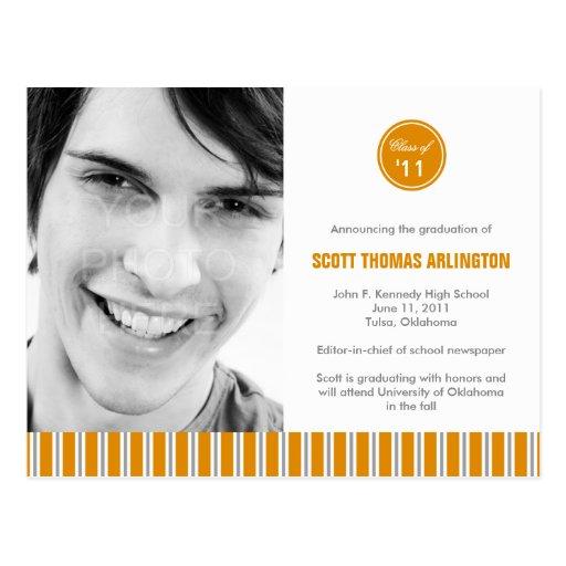 Invitación/invitación elegantes de la graduación postales