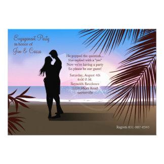 Invitación invitación tropicales del compromiso de