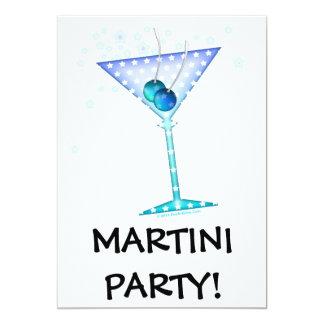 """Invitación, invitaciones - MARTINI AZUL Invitación 5"""" X 7"""""""