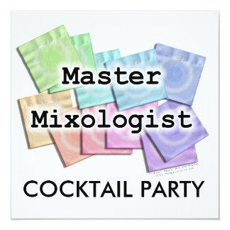 """Invitación, invitaciones - MIXOLOGIST PRINCIPAL Invitación 5.25"""" X 5.25"""""""