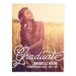 Invitación /Invitation de la graduación de la capa Tarjeta Postal
