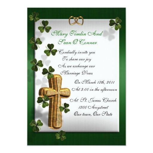 Invitación irlandesa del boda