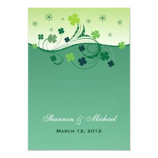 Invitación irlandesa del boda del trébol
