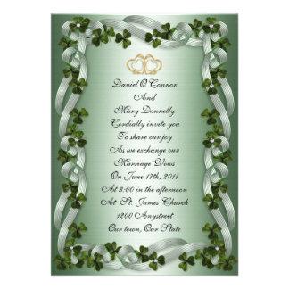 Invitación irlandesa del boda elegante