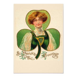 Invitación irlandesa del fiesta de la muchacha