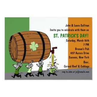 Invitación irlandesa del fiesta del barrilete