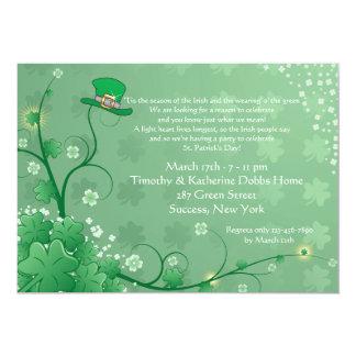 Invitación irlandesa del jardín