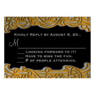 Invitación irlandesa del oro y del boda del tarjetas de visita grandes