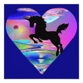 Invitación irresistible del arte del unicornio de