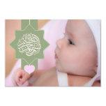 Invitación islámica de la foto del bebé de Aqiqah Invitación 8,9 X 12,7 Cm