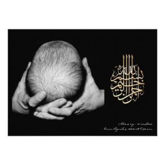Invitación islámica de la invitación de la foto de