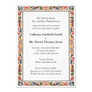 Invitación italiana antigua del boda de la
