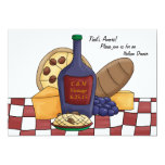 Invitación italiana de la cena invitación 12,7 x 17,8 cm