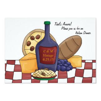 Invitación italiana de la cena