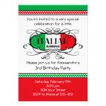 Invitación italiana de la fiesta de cumpleaños del