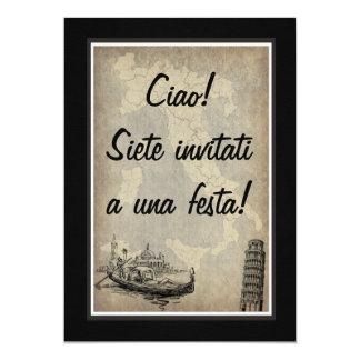 Invitación italiana de la parte