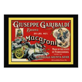 Invitación italiana del anuncio de los macarrones
