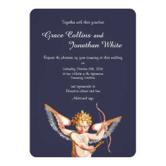 Invitación italiana del boda del arte del Cupid