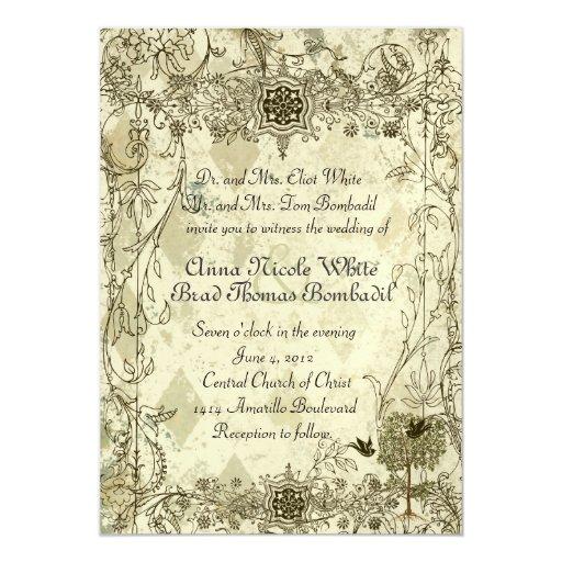 Invitación italiana del boda del verdete del