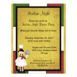 Invitación italiana del fiesta de cena de la noche