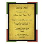 Invitación italiana del fiesta de la noche