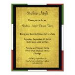 Invitación italiana del fiesta de la noche invitación 10,8 x 13,9 cm