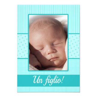 Invitación italiana del nacimiento del bebé