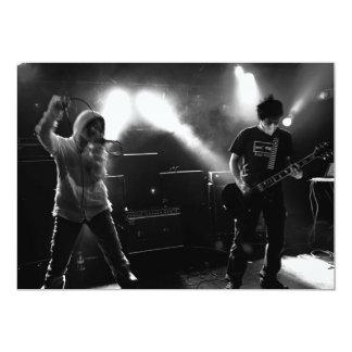 Invitación japonesa de la banda de punk rock
