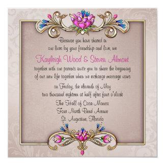 Invitación Jeweled de la elegancia