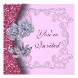 Invitación Jeweled del fiesta de las flores del di