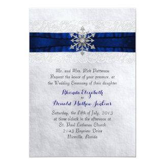Invitación Jeweled elegante del boda del copo de Invitación 12,7 X 17,8 Cm