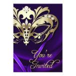 Invitación Jeweled púrpura del fiesta de la
