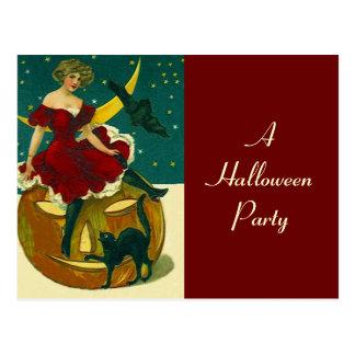 Invitación JOL del fiesta de Halloween del vintage