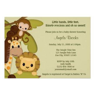 Invitación JTN-L de la fiesta de bienvenida al beb