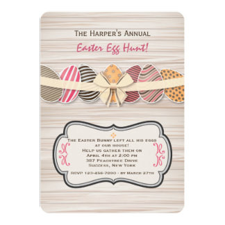 Invitación jubilosa de los huevos de Pascua