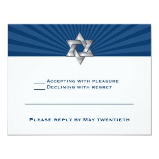Invitación judía de plata de Mitzvah de la barra