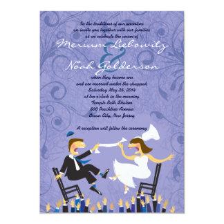 Invitación judía divertida del boda de la danza de