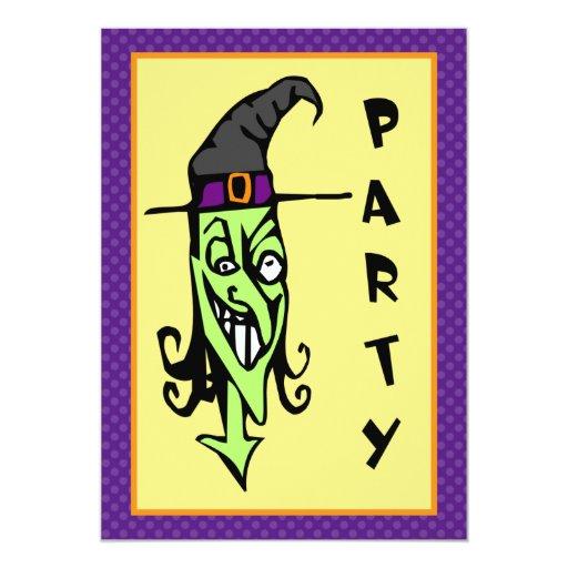Invitación Kooky del fiesta de Halloween de la