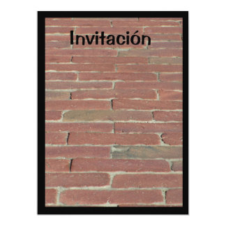 Invitación - Ladrillo Rojo Card