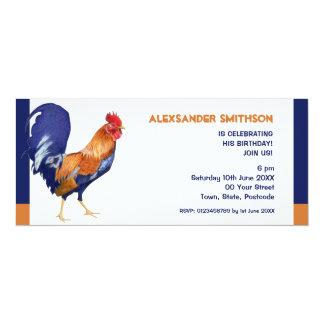 Invitación larga de la fiesta de cumpleaños del
